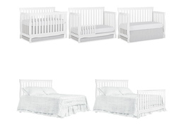 White Keyport 5 in 1 Convertible Crib Collage