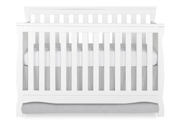 White Keyport 5 in 1 Convertible Crib Front Silo