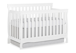 White Keyport 5 in 1 Convertible Crib Side Silo