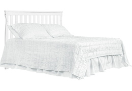 White Keyport Full Size Bed HeadBoard Silo