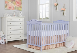 Lavender Ice Bella Rose Classic Convertible Crib
