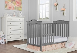 734-SGY Bella Rose Classic Toddler Bed RS