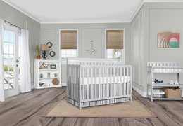 Grey Alissa 5 in 1 Convertible Crib RS