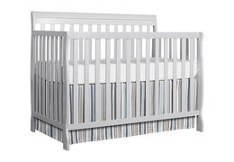 Grey Alissa 5 in 1 Convertible Crib Silo
