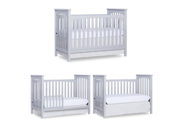 Pebble Grey Cape Town 5 in 1 Convertible Crib Collage