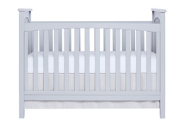 Pebble Grey Cape Town 5 in 1 Convertible Crib Front Silo