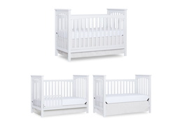 White Cape Town 5 in 1 Convertible Crib Collage