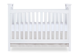 White Cape Town 5 in 1 Convertible Crib Front Silo
