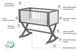 Grey and White Luna Cradle Features