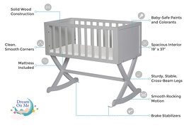 Pebble Grey Haven Cradle Features