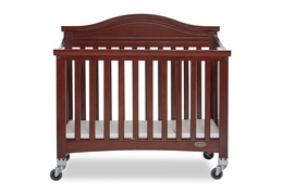 Espresso Venice Folding Portable Crib 01