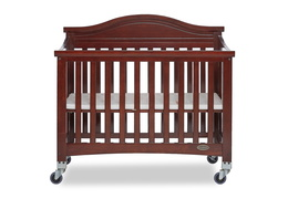 Espresso Venice Folding Portable Crib 02