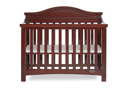 Espresso Venice Folding Portable Crib 03