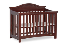 Espresso Venice Folding Portable Crib 05
