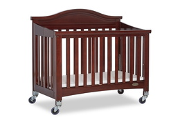 Espresso Venice Folding Portable Crib 06