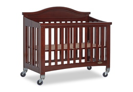 Espresso Venice Folding Portable Crib 07