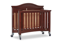 Espresso Venice Folding Portable Crib 08