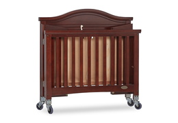 Espresso Venice Folding Portable Crib 09