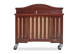 Espresso Venice Folding Portable Crib 10