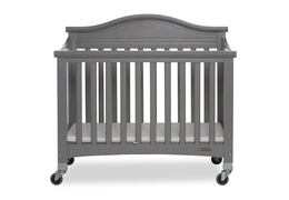 Steel Grey Venice Folding Portable Crib 01