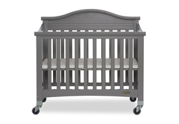 Steel Grey Venice Folding Portable Crib 02