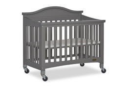 Steel Grey Venice Folding Portable Crib 04
