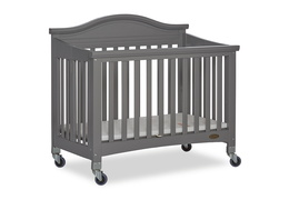 Steel Grey Venice Folding Portable Crib 06