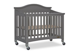 Steel Grey Venice Folding Portable Crib 07