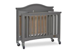 Steel Grey Venice Folding Portable Crib 08