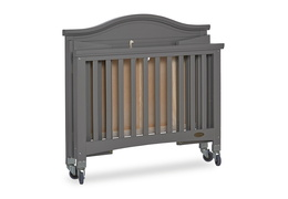 Steel Grey Venice Folding Portable Crib 09