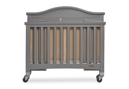 Steel Grey Venice Folding Portable Crib 10