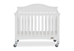 White Venice Folding Portable Crib 01