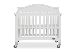 White Venice Folding Portable Crib 02