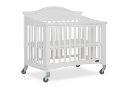 White Venice Folding Portable Crib 04