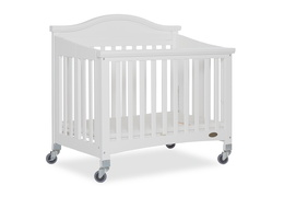 White Venice Folding Portable Crib 06
