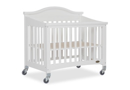 White Venice Folding Portable Crib 07