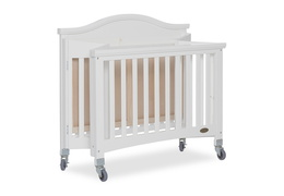 White Venice Folding Portable Crib 08