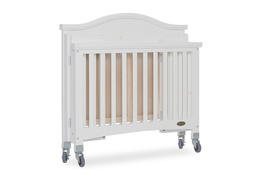 White Venice Folding Portable Crib 09
