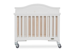 White Venice Folding Portable Crib 10