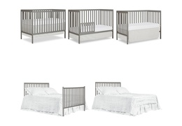 Cool Grey Synergy 5-in-1 Convertible Crib Collage