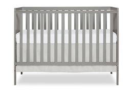 Cool Grey Synergy 5 in 1 Convertible Crib Silo Front