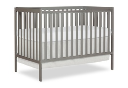 Cool Grey Synergy 5 in 1 Convertible Crib Silo Side