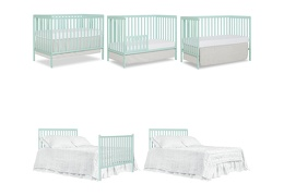 Mint Synergy 5 in 1 Convertible Crib Collage
