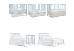 Sky Blue Synergy 5 in 1 Convertible Crib Collage