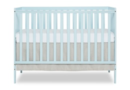 Sky Blue Synergy 5 in 1 Convertible Crib Silo Front
