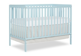 Sky Blue Synergy 5 in 1 Convertible Crib Silo Side
