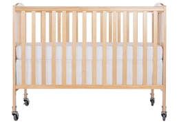 Natural Folding Full Size Convenience Crib Silo Front