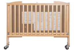 Natural Folding Full Size Convenience Crib Silo1