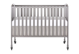 Steel Grey Folding Full Size Convenience Crib Silo1