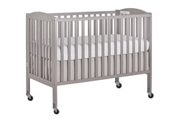 Steel Grey Folding Full Size Convenience Crib Silo2